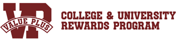 Value Plus - College and University Rewards Program